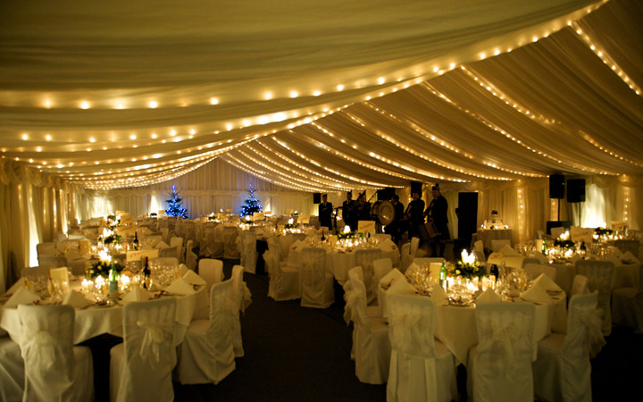 Traditional Marquee with Poles and guy ropes
