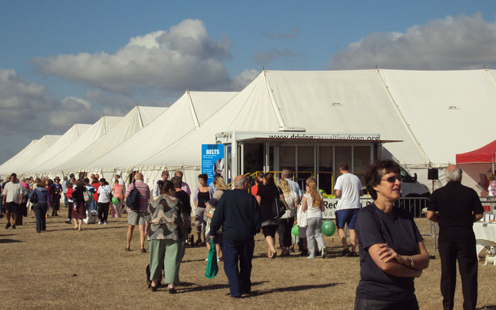 Small and large marquees